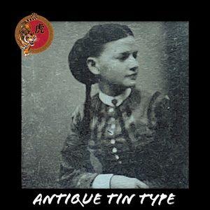 Antique Tin Type Gorgeous Woman